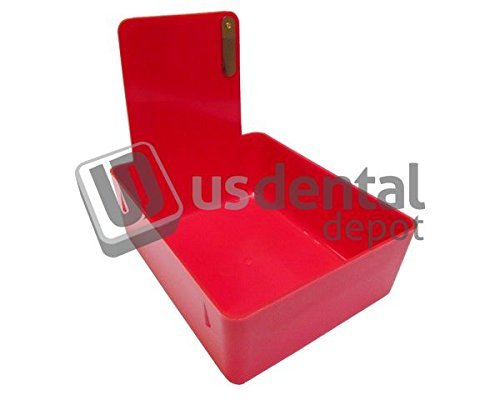 KEYSTONE - Classic Lab Work Pans - Red w/clip - 12pk - made 034-7000372 Us Dental Depot