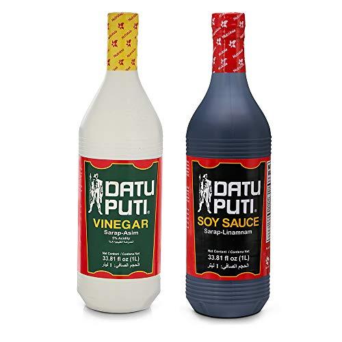 Datu Puti Vinegar and Soy Sauce Value Pack - 1 liter bottle of each