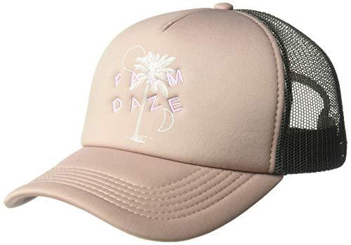 O'Neill Women's Mesh Back Adjustable Trucker Hat, White/Bark, One Size