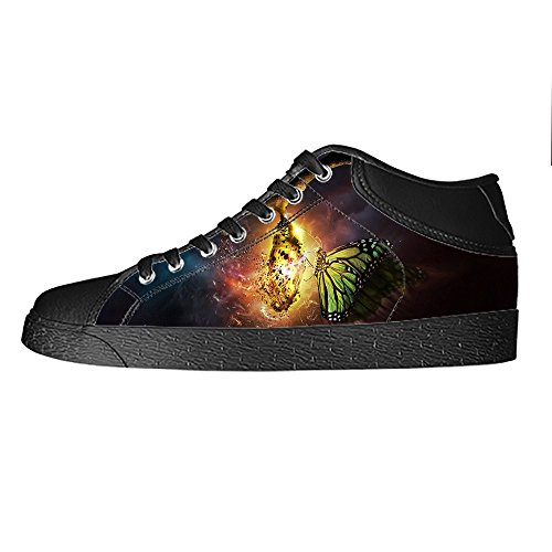 Custom Colore Flying Butterfly Womens Canvas shoes I lacci delle scarpe scarpe scarpe da ginnastica Alto tetto