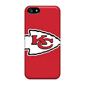 Shockproof Hard Phone Covers For Iphone 5/5s (GOH20085xDNY) Allow Personal Design Beautiful Kansas City Chiefs Series