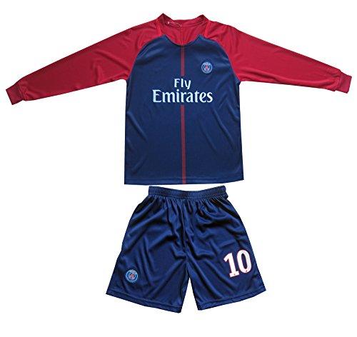 huge discount 7c544 859d4 LES TRICOT 2017/2018 PSG Paris Saint Germain Home #10 ...