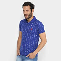 Camisa Polo Opera Rock Estampada Mini Print Masculina