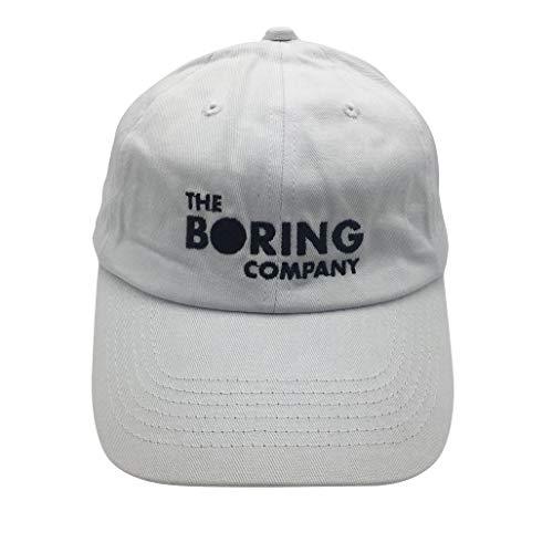 White Adjustable Baseball Hat - binbin lin Boring Company Baseball Cap Embroidered Dad Hat Adjustable Snapback Cotton (White)