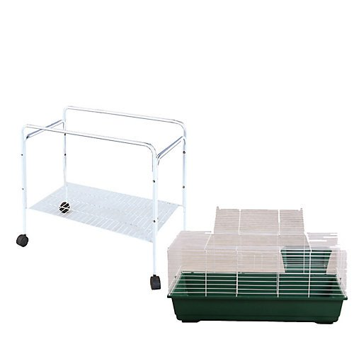 A and E Small Animal Cage & Stand Kit Medium Blue by A&E Cage