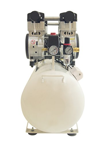 California Air Tools 20040C 4 hp 20 gallon Ultra Quiet & Oil-Free Steel Tank Air Compressor, White
