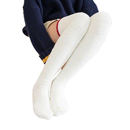 Fullfun Donna Inverno Cartoon Sopra Ginocchio Calzini Lunghi Stivali Calze Gambaletto Calza Corallo Caldo Pile C