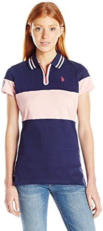 U.S. POLO ASSN. Para Mujer Camisa Polo - Azul -: Amazon.es: Ropa y ...