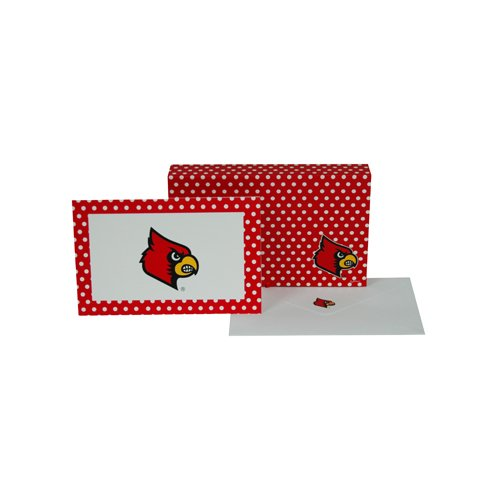 Game Day Outfitters NCAA Louisville Cardinals Stationary Note Card Set (8 Sets), One Size, Multicolor ()