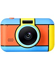 HelloDigi Kids Camera,28 Million HD Pixels Digital Video Camera Waterproof Front and Rear Dual Camera Kids Digital Camera 32GB TF Card Mini Childrens Toys Camera, 3-15 Years Old Kids Best Gift for Christmas or birthday (red)