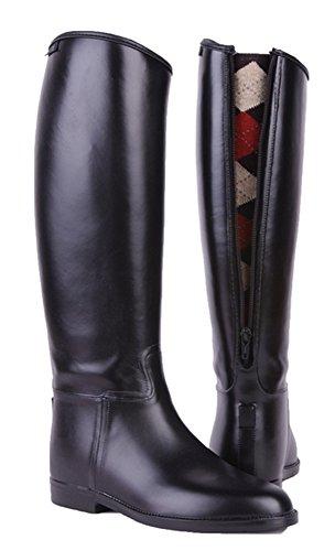 HKM botas de equitación para niños con cierre de cremallera negro