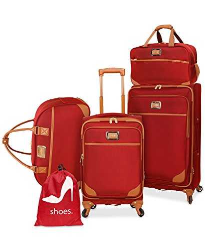 MareLight Jessica Simpson Kinsey 5-Pc. Luggage Set Expandable Suitcase With Spinner (Eva Expandable Luggage Set)