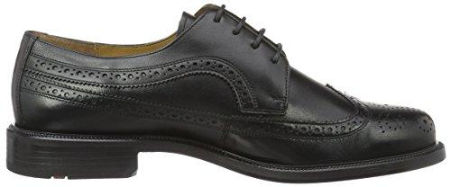 Lloyd Kay Extra-Weit, Zapatos de Cordones Brogue para Hombre Schwarz (Schwarz)