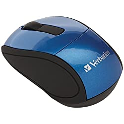 Verbatim Wireless Mini Nano Travel Mouse, Blue 97471