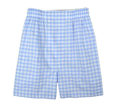 Brooks Brothers Men's Regular Fit 100% Cotton Boxer Light Blue White Checkered (X-Large)