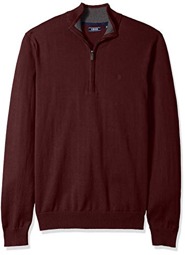 (IZOD Men's Premium Essentials 1/4 Zip Sweater, New fig XX-Large)