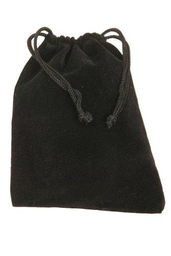 Velvet Bag with draw string, Black