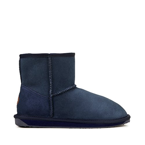 EMU Australia Womens Stinger Mini Winter Real Sheepskin Boots In Indigo Size 8 Emu Australia Womens Stinger