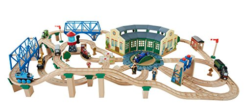 Thomas & Friends Fisher-Price Wooden Railway, Tidmouth Sheds Deluxe ...
