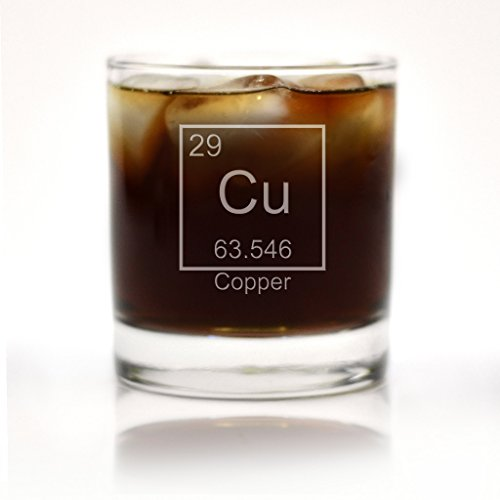 Engraved Copper 7th Anniversary Periodic Table of Element Rocks Glass by Glass With a Twist