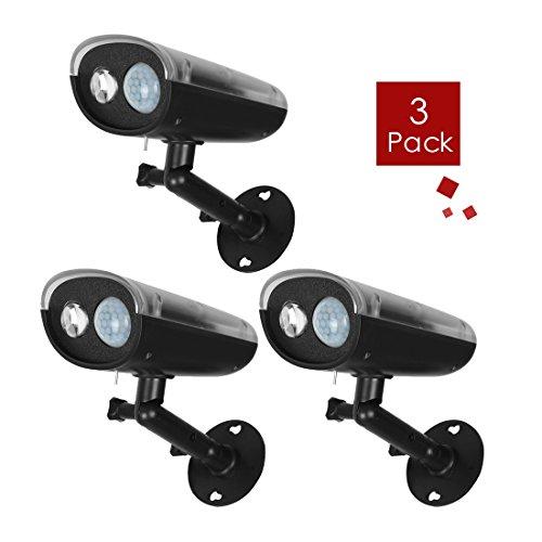 UXcell Solar Motion Sensor Spotlight Waterproof Wireless ...