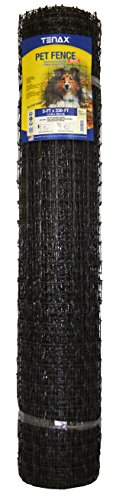 Tenax 2A140076 Pet Fence Select, 5' x 330', 5' x 330', Black
