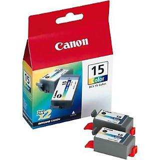 (Canon® 15 (BCI15CLR) Color Inkjet Cartridges Dual Pack)