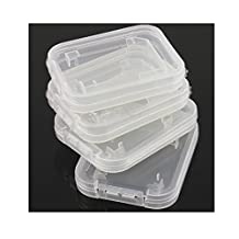 JXULE Transparent Standard SD SDHC Memory Card Case Holder Box Storage boxes (pack of 10)