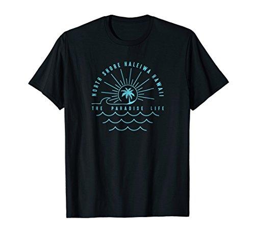 North Shore Paradise Life Hawaii T-shirt_teal ()