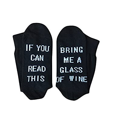 Women's Cotton Funny Crew Socks Novelty Funky Cute Wine Party Gift