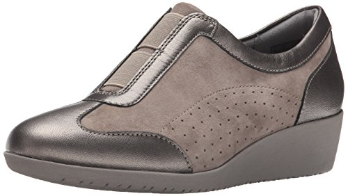 Clarks Womens Petula Viola Flat Taupe Scamosciato