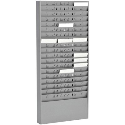 Mmf Time Card - Steel Time Card Rack with Adjustable Dividers, 5quot; Pockets