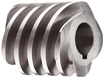 """Boston Gear D1638KLH Worm Gear, 14.5 Degree Pressure Angle, 1.000"""" Bore, 6 Pitch, 2. PD, LH"""