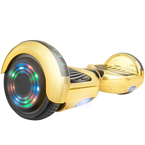 WorryFree Gadgets 6.5' UL2272 Certified Smart Self Balancing Hoverboard Personal Adult & Kids Transporter with LED Light (Gold)