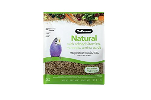 (ZuPreem Natural with Added Vitamins, Minerals, Amino Acids Small Bird Food, 2.25)