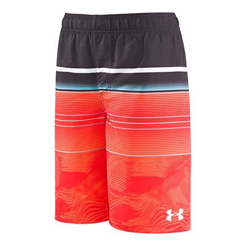 - Under Armour Boys' UA Static Stripe Volley Youth X-Large Orange Glitch