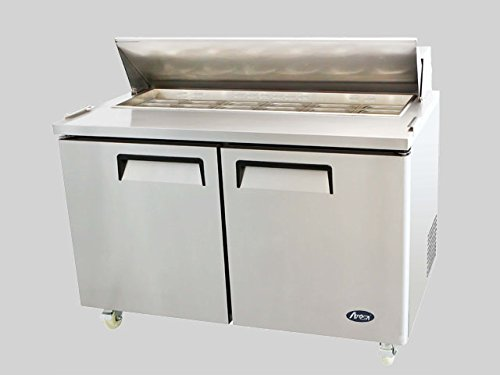 "NEW 2 Door 60"" Sandwich Prep Table Refrigerator"