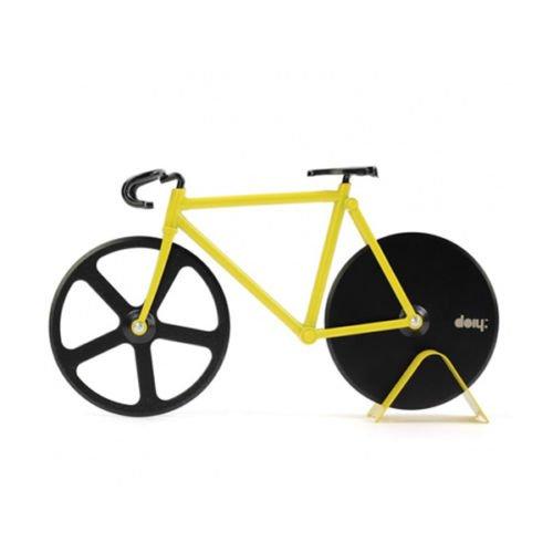 Fixie Pizza Cutter Bumble Bee Black Mini Bike Bicycle Aluminum Alloy Steel Gift (Bike Pizza Cutter Fixie)