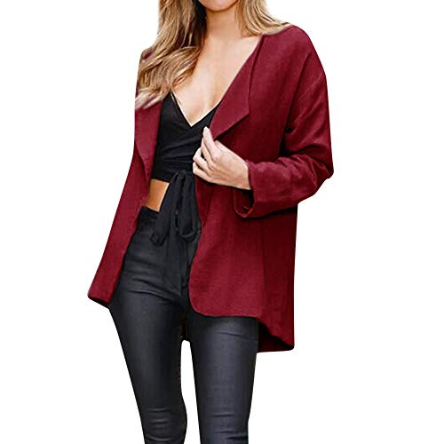Casual Outerwear Red Charming Coat Women Loose Solid Tunic Open Sleeve Cape Jacket Womens Long Cardigan Kimono Jersh Brief patxO