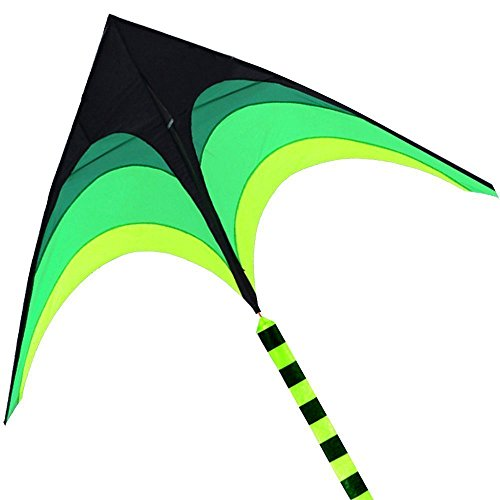 Hengda Kite-For Kids and Adults!Umbrella Cloth Prairie Triangle Kite with Long Ribbon by HENGDA KITE