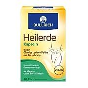 Bullrich Heilerde Kapseln Linderung von Magen-Darm-Beschwerden und unterstützt bei der Darmsanierung, vegan (48 Stück)