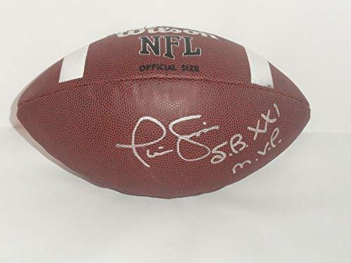 Phil Simms Autographed Football - Super Bowl Xxi Mvp Proof - Autographed Footballs Autographed Super Bowl Xxi Football