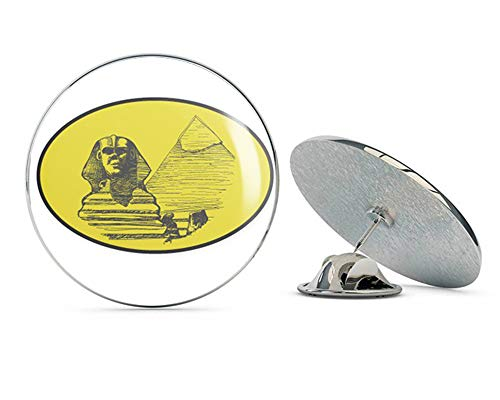 BRK Studio Egypt Green Oval Sphinx Pyramids Round Metal 0.75
