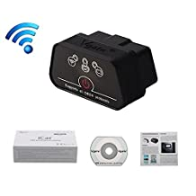 Autos-Family 100% Original Vgate iCar 2 WiFi Mini OBD2 OBD II iCar2 WiFi Car Diagnostic Scan Tool for IOS iPhone iPad PC(Black Color)