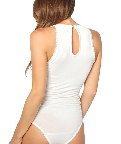 KRISP Body Mujer Fiesta Vestir Transparente Elegante Estampados Floral Tallas Grandes Blanco