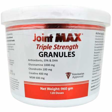 - Joint Max PHS Triple Strength (TS) Granules for Dogs - Glucosamine, Chondroitin, Creatine, MSM - Vitamins and Antioxidants - Hip and Joint Pain Relief and Support Supplement - Made in USA - 120 Doses