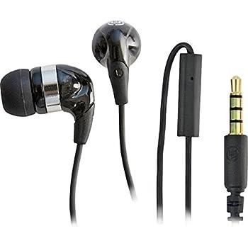 WICKED WI-2150 Jawbreaker Headphones with Microphone (Black)