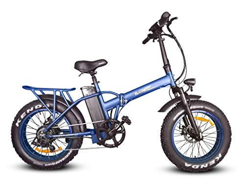 """Black Max Cascade Cruiser 48V 14.5ah 750W Bafang Hub Drive 20"""" X 4"""" Electric Fat Tire Folding Bike 1 Year Warranty with Parts and Service Available in The US"""