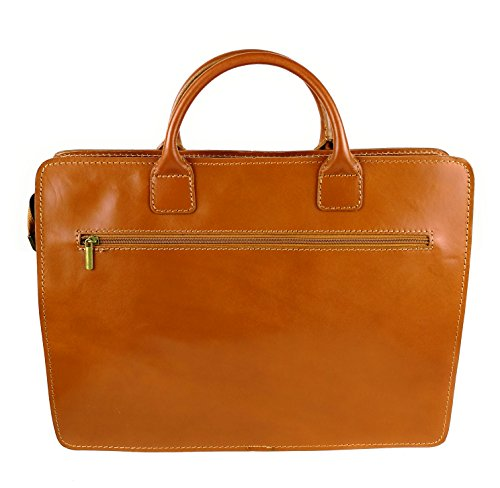 strap documents and Zerimar leather shoulder with Executive Leather briefcase organizer for Hc6wq4F