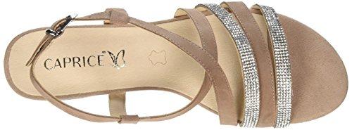 Caprice Women's 28110 Sling Back Sandals, Blue Combination, 8.5 UK Red (Rose/Sand Sued 585)